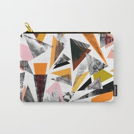 Colourful textured triangles print Carry-All Pouch
