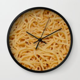 Noodles Up Close And Personal Wall Clock