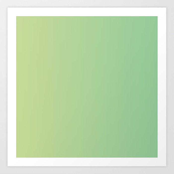 Light Green Gradient Kunstdrucke