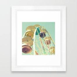 Pastel Ferris Wheel Framed Art Print