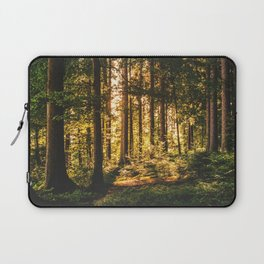 Woods  - Forest, green trees outdoors photography Laptop Sleeve