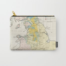 Vintage Map of the Coal Fields of Great Britain Carry-All Pouch