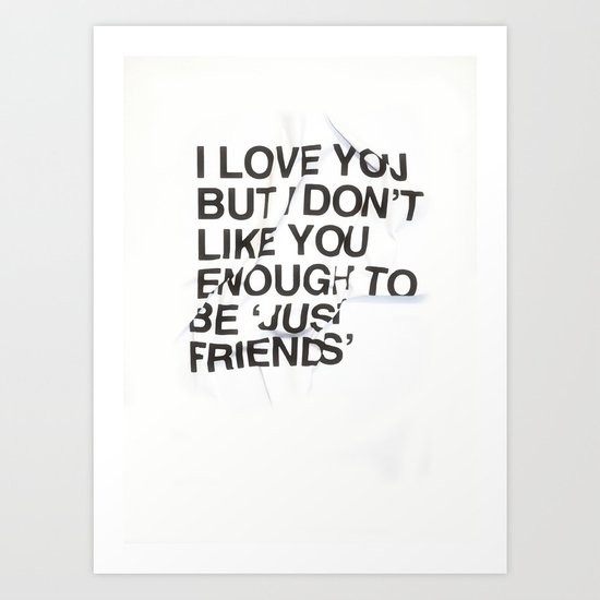 Just Friends Art Print