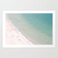 beach - summer of love Art Print