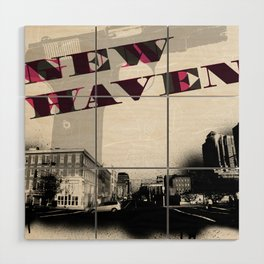 Gun Wavin, New Haven Wood Wall Art