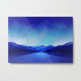 Graphic #17 - Midnight Blue Metal Print