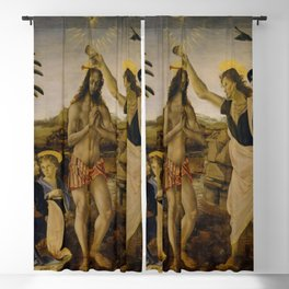 Andrea del Verrocchio - The Baptism of Christ Blackout Curtain