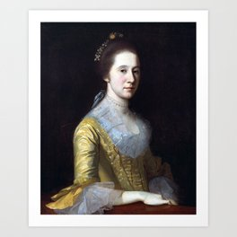 Charles Willson Peale Margaret Strachan (Mrs. Thomas Harwood) Art Print