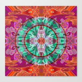 Firebird Eye of the Sky Mandala Canvas Print
