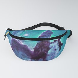 Pillars of Creation Teal Turquoise Violet Fanny Pack