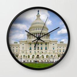 U.S. Capitol Panorama 2 Wall Clock