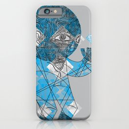 mesmerized by the light blue diamond iPhone Case