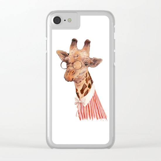 Giraffe Clear iPhone Case