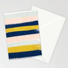 Stripes minimal trendy color palette gold silver metallic minimal home decor Stationery Cards