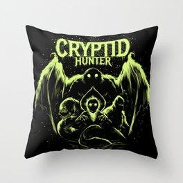 Cryptid Hunter Throw Pillow