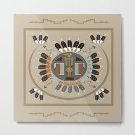 American Native Pattern No. 115 Metal Print