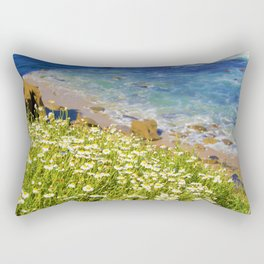 California Seaside in Bloom by Reay of Light Rectangular Pillow
