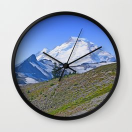 MOUNT BAKER FLOODED BY SUMMER LIGHT Wall Clock
