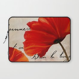 Coquelicots Red Laptop Sleeve