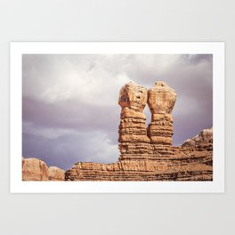 Twin Rocks Utah Art Print