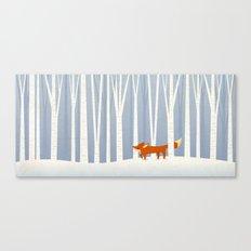 Fox in the Snow Canvas Print