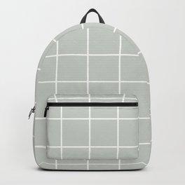 Gray Grey Sea Salt Grid Pattern Line Stripe Backpack