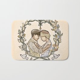 """Illustration from the video of the song by Wilder Adkins, """"When I'm Married"""" Bath Mat"""