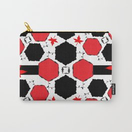Red Black Carry-All Pouch