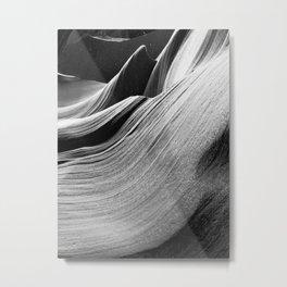 Dreamy Curves on Rocks in Antelope Canyon in Arizona Metal Print