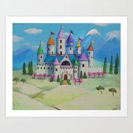 Colorful Princess Castle Art Print