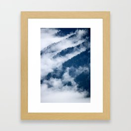 Olympic Mountains from Hurricane Ridge Framed Art Print