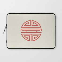 Shou Longevity In Red And Chamois Laptop Sleeve