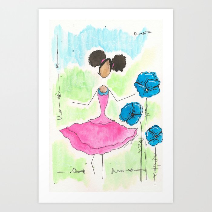 Tia Skipping So Happy Art Print