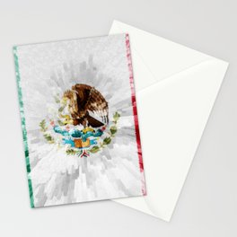 Extruded Flag of Mexico Stationery Cards