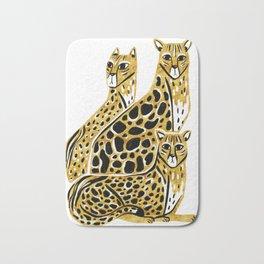 Gold Cheetahs Bath Mat