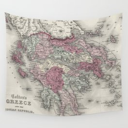 Vintage Map of Greece (1855)  Wall Tapestry