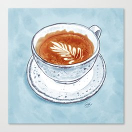 Flat White Canvas Print