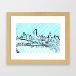 BRISBANE POSTCARD SERIES 011 Framed Art Print