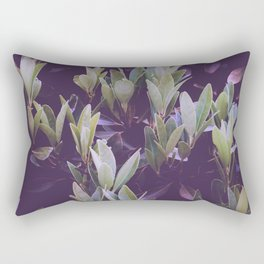 Abstract Foliage Green and Purple Rectangular Pillow