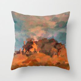 Earning Smokey Topaz Throw Pillow