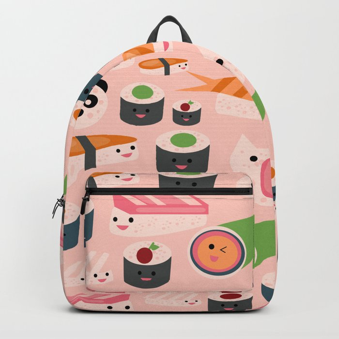 Kawaii sushi light pink Backpack