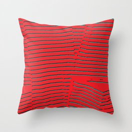 red turquoise stripes Throw Pillow