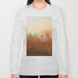 Nashville, Tennessee Skyline - In the Clouds Long Sleeve T-shirt