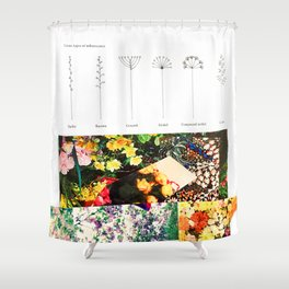 Various Types of Inflorescence Shower Curtain