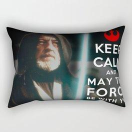 Keep Calm Star Wars - Alec Guinness Rectangular Pillow