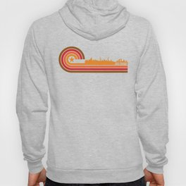 Retro Style Abu Dhabi United Arab Emirates Skyline Hoody