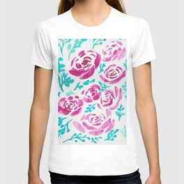 7     190412 Flower Abstract Watercolour Painting T-shirt
