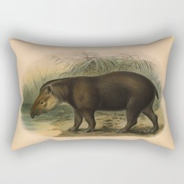Vintage Scientific illustration, c. 1880 (Tapir) Rectangular Pillow