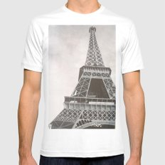Untitled (Eiffel Tower) MEDIUM Mens Fitted Tee White