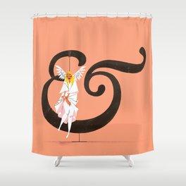 Angeline & Garamond Shower Curtain